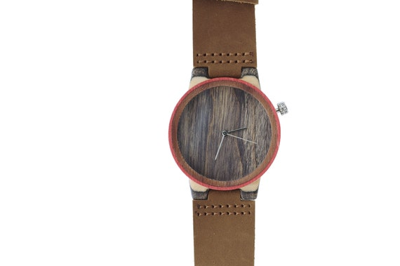 7PLIS watch #115 Recycled SKATEBOARD #madeinfrance yellow brown green wood