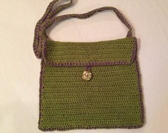 Handmade Green Crochet bag