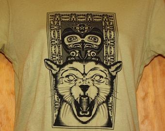 Womans PNW Cougar: Organic Cotton Tshirt