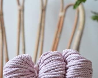 Macrame pastel pink, cotton rope, macrame rope, cotton cord 5 mm, macrame cord, 5mm cotton twisted rope, cotton rope macrame, diy rope