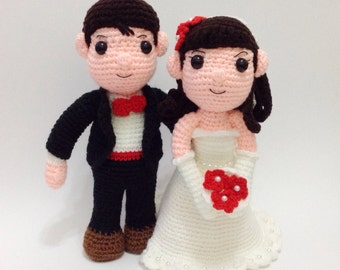 PATTERN - The Wedding Couple Bride And Groom - Crochet Pattern, pdf