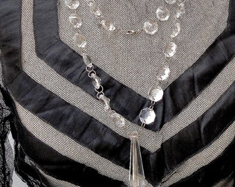 Superb antique Chandelier Handmade Crystal Long Necklace