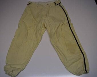 Vintage baseball uniform pants, 1950s