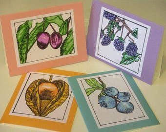 Fruit art cards