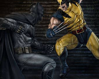 Batman vs Wolverine 11x17