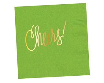 Napkins | Cheers - Lime Green (in stock)