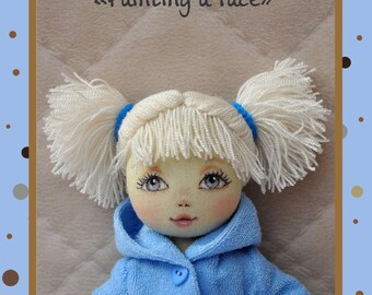 PDF, face painting Cloth Doll,PDF Sewing Tutorial