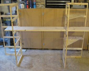 Craft show display folding shelf