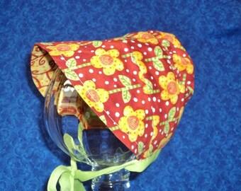 PeekaBoo Baby Bonnet Reversible