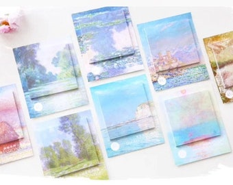 Oil Painting Sticky Notes Artist Painting Impressionist Painting European Painting Watercolour Painting Memo Pad Sticker Post it Clip Art
