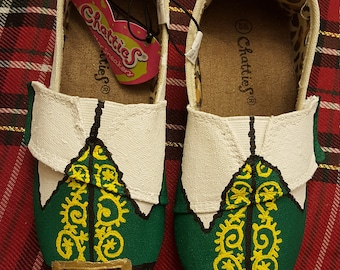 Buddy the Elf inspired shoes