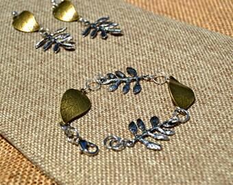 Multi Leaf Jewelry Set