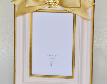 Baby Girl Picture Frame Shower Gift Baby Nursery-CHOOSE your size 4x6, 5x7
