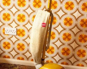 Vintage Retro Yellow 1970s British Hoover Junior U1036 Upright Vacuum Cleaner