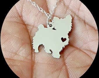 Yorkie pendant etsy yorkshire terrier necklace engraving pendant sterling silver jewelry gold jewelry rose gold aloadofball Choice Image