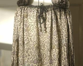 70s Indian gauze cotton Hippie/Boho/Festival Vest/Waistcoat