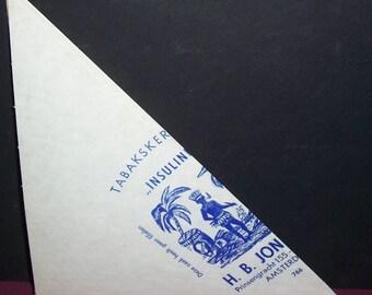 VIntage 1940s Dutch tobacco-store paper scoop
