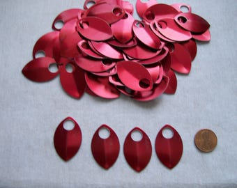 Dragon Scales - Aluminum - Large - Red - Sets of 100