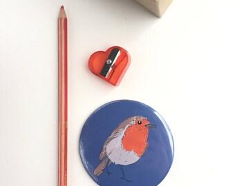Robin Pocket Mirror//Red Robin//Handbag Accessory/Gift for her