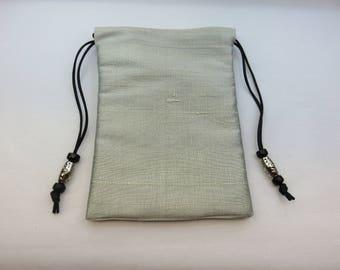 Soft Silver Pure Silk Tarot Bag for Tarot, Runes, Pendulums, Crystals, Ritual Items
