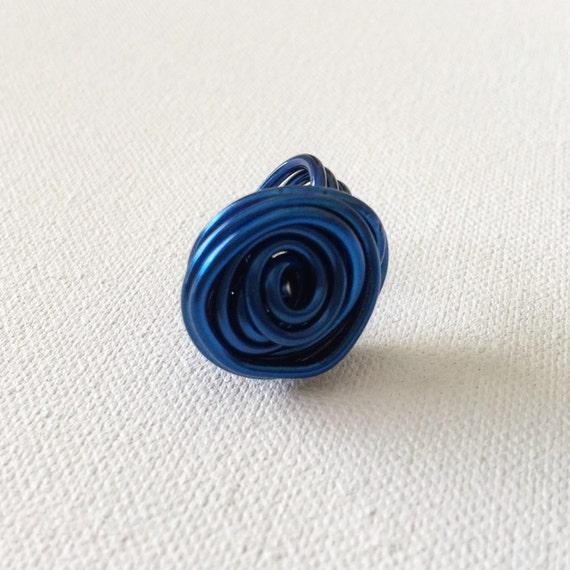 Rose Ring in Cobalt Blue