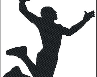 Basketball Slam Dunk Embroidery Design 2 sizes