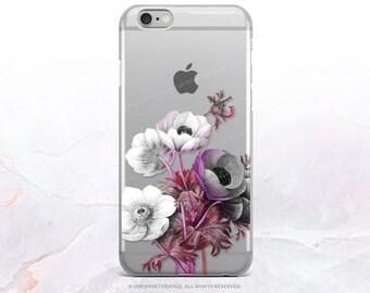 iPhone 8 Case iPhone X Case iPhone 7 Case Anemone Clear GRIP Rubber Case iPhone 7 Plus Clear Case iPhone SE Case Samsung S8 Plus Case U37