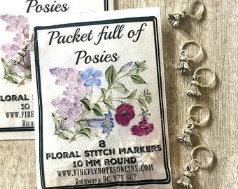 Flower stitch markers, 10 mm snag free