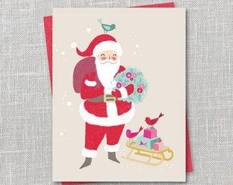Santa Holiday Notecard Instant Download PDF