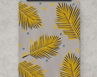 Retro print, Palm leaf, digital download art, retro poster, tropical leaf print, retro art, wall art, digital print, printable art, retro
