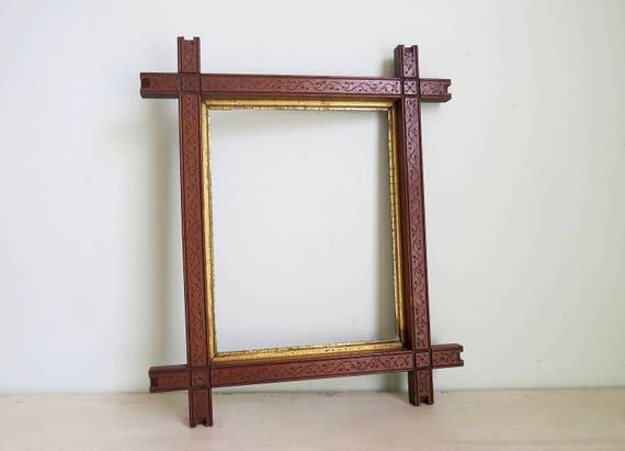 Tramp Art Frames, Adirondack Frame, Folk Art Frame, Vintage Wood ...
