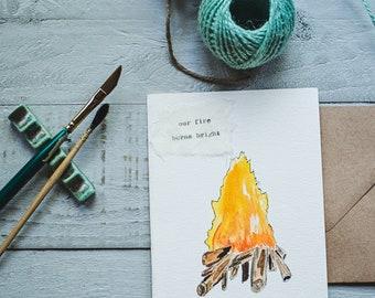 Camping Anniversary Card, Camping Love Card, Hiker Anniversary Card, Hiker Love Card, Backpacker Anniversary Card, Backpacker Love Card