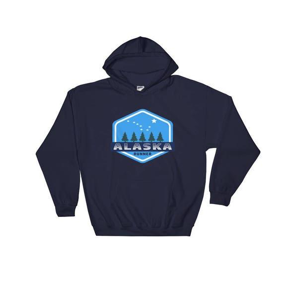 Alaska Runner Hooded Sweatshirt - Unisex - Hoodie - Heavy Sweatshirt