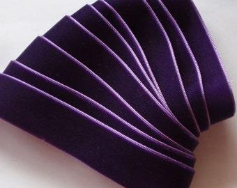 3 yards 7/8 inches Velvet Ribbon in Purple RY78-089