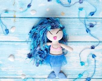 Crochet Mermaid Toy,  Amigurumi doll, Mermaid Plush Toy, Stuffed Animal, Crochet Mermaid Stuffed Toy