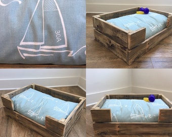 Reclaimed Wood Dog/Cat Pet Bed-Dog crate-Cat Crate-Dog bed for Small Cats/Dogs-Handmade in the USA-farmhouse dog bed