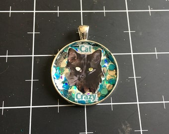 Cat Crazy, Black Cat Pendant, 50% of the proceeds goes to the current focus charity