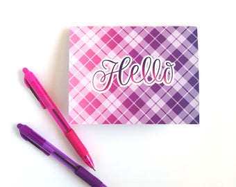 Hello Card Set, Pink and Purple Ombre, Purple Cards, Pink Cards, Greeting Cards, Hello Cards