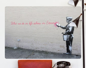 Echoes In Eternity Banksy Wall Decal - #71126