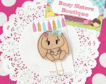 Planner clip- brown bunny