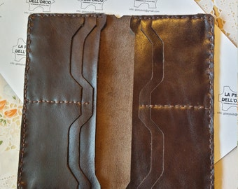 Men's wallet-leather wallet-Ladies Leather Wallet-credit card wallet-Wallet entirely handmade.