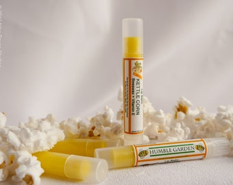 Kettle Popcorn flavored Beeswax Lip Balm - handcrafted
