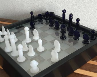 Cobalt and Jade Chess Set