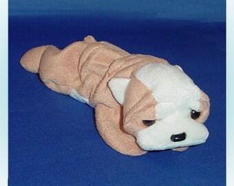 Ty Beanie Baby Wrinkles the Bulldog 1990s