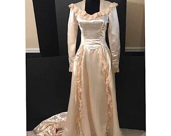 1947 Vintage Wedding Gown