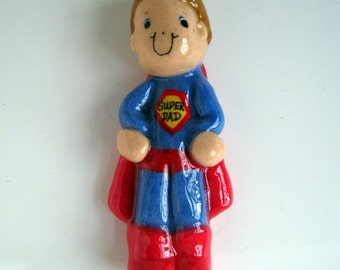 Super Dad Ornament handmade bread dough