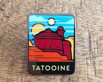 Greetings from Tatooine! Lapel Pin