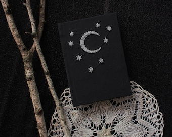 Embroidered Crescent Moon & Stars Sketchbook II