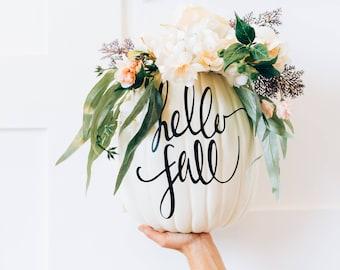 Monogram Pumpkin Fall Decor