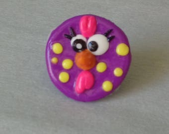 Crazy chicken ring